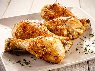 Рецепта Портокалови пилешки долни бутчета печени на фурна